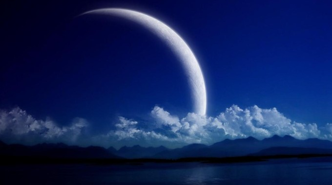 3d Moon Night Sky
